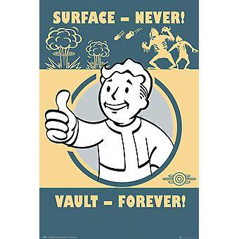 Fallout 4 Vault för evigt Maxi affisch