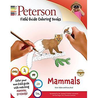 Peterson Field Guide Coloring Book Pattedyr av Peter Alden &Illustrert av Fiona Reid
