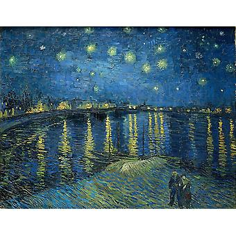 Starry Night Over The Rhone,vincent Van Gogh Art Reproduction.impressionism Modern Hd Art Print Poster,canvas Prints Wall Art For Home Decor Pictures