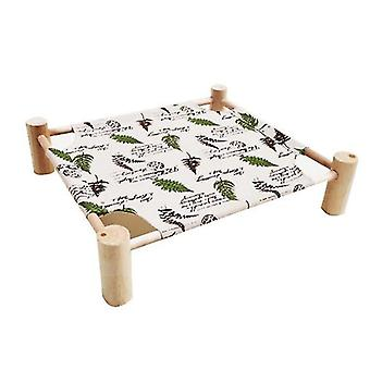 Detachable Elevated Dog Bed No-slip Cool Breathable Durable(Leaf)