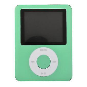 Mini MP3 Musiikki Korkealaatuinen Kannettava MP3 (Vihreä)