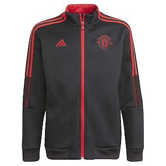 Man Utd 2021-2022 Jachetă imn (negru) - Copii