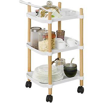 SoBuy SVW06-W,3 Tier Servierwagen für Küche und Wohnzimmer