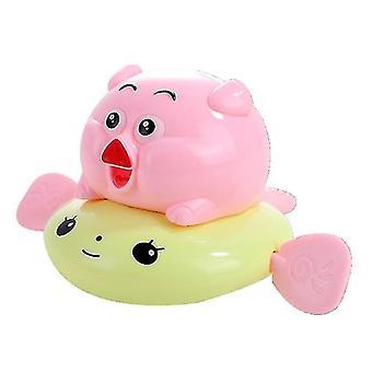 Игрушки для ванны Заводное плавание Поросенок Детские игрушки для ванны, Игрушка для душа для детей (Pinkyellow)