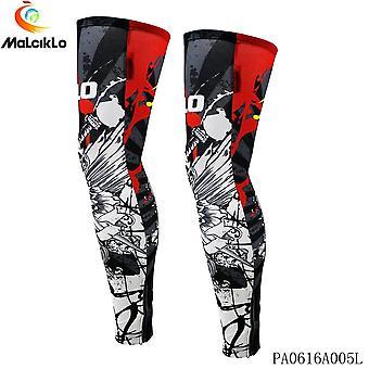 Men women compression cycling legwarmers sport safety running legging basketball soccer leg warmers tights sportswear