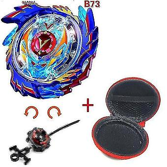 Spinning tops 5 beyblade burst sparking turbo b48 launcher  metal top gyro blade blade spinning fight toys b73