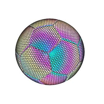 Hywell Glowing Football-reflective-holographic-glow In The Dark-suitable For Indoor And Outdoor Use