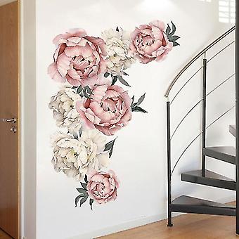 ملصقات جدار زهرة - رومانسية الزهور ديكور المنزل لغرفة نوم، غرفة المعيشة