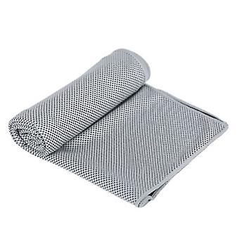Toalha de resfriamento, toalhas frias Microfiber Chilly Head Band Bandana Neck Wrap Grey