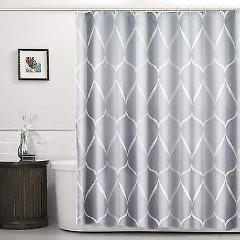 Duschvorhang Gitter Design Schnell trocknend und langlebig waschbar GewichtungSaß mit 10 Haken