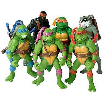 6kpl / laukku Ihana 12cm Kilpikonnat ToimintaHahmo Sarjakuva Tartaruga Ninja Lelut Lapsille Anime Hahmo Nukke Syntymäpäivä Lahjat