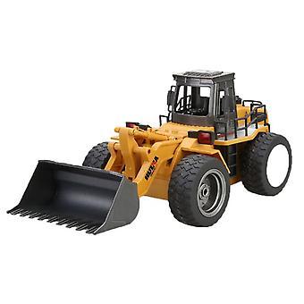 1:18 Remote Control Truck 6 Channel Bulldozer Tractor Remote Control Simulation Construction Toy Yellow