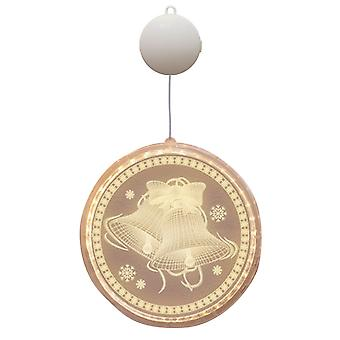 Swotgdoby Christmas Disc 3d Hanging Lamp With Christmas Series Pattern, Backdrop Light For Dcor