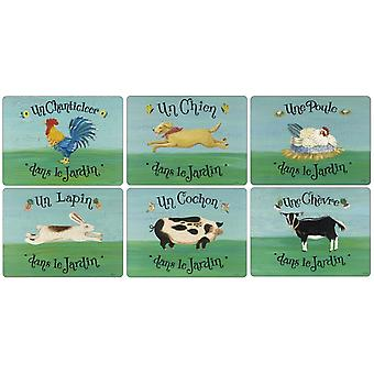 Pimpernel Dans Le Jardin Placemats Set of 6