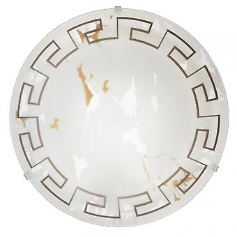 Eglo Twister 2 Light Traditional Flush Ceiling Light Marble Effe