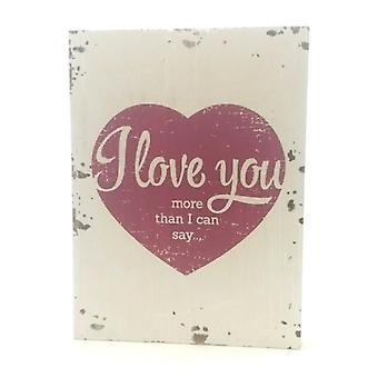 """Houten tekstbord """"I love you"""""""