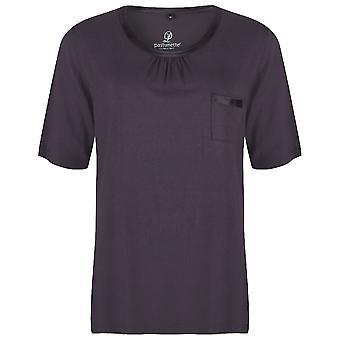 Pastunette Deluxe Loungewear mørk grå kort ermet topp 4061-307-2 (959)