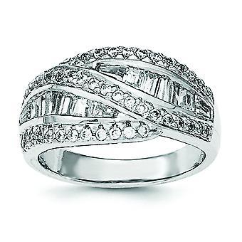 925 Sterling Silber CZ Zirkonia simuliert Diamant Ring Schmuck Geschenke für Frauen - Ring Größe: 6 bis 8