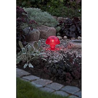 Konstsmide Assisi punainen sieni Solar Light