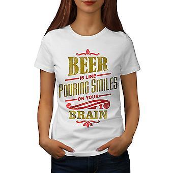 Beer Quote Women WhiteT-shirt | Wellcoda
