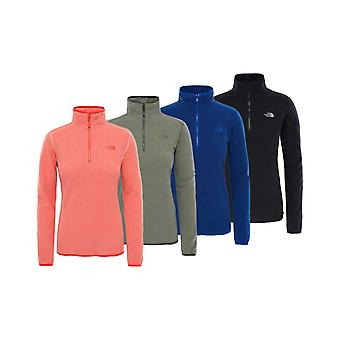 The North Face dames 100 Glacier 1/4 Zip Fleece Cayenne rood/vurige rode XS