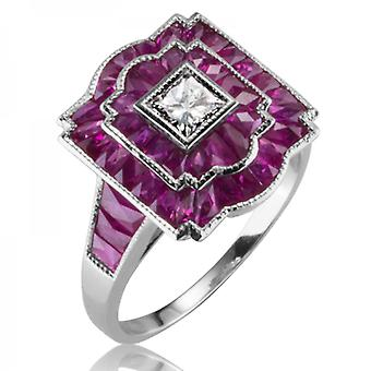 Shipton and Co Ladies Shipton And Co Exclusive 18ct White Gold And 2.5ct Ruby Ring S08812RUD