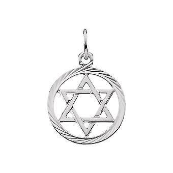 14k White Gold Religieuze Judaica Ster van David Hanger Ketting 13.25 Sieraden Geschenken voor vrouwen
