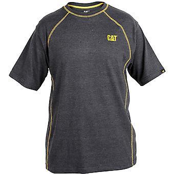 Caterpillar Mens desempenho T camisa cinza