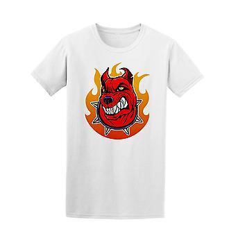 Stilisert leder for enhunden helvete. Tee menn-bilde av Shutterstock