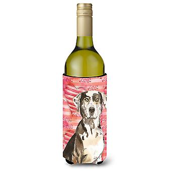 Amor un leopardo de Catahoula perro botella de vino Beverge aislador Hugger