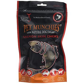 Pet Munchies Salmon Skin Chew, Medium (Pack of 8 x 90g)