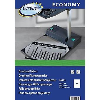 Europa 100 90921 Película OHP A4 Láser, color, Impresora láser, Copiadora de color, Copiadora transparente 100 uds.s.
