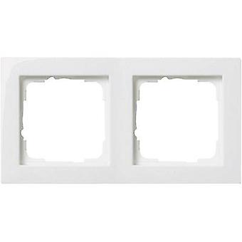 GIRA 2 x Frame E2, standaard 55 zuiver wit 0212 29