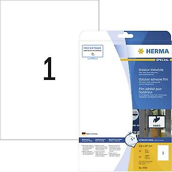 Herma 9500 Labels 210 x 297 mm PE film White 10 pc(s) Permanent All-purpose labels, Weatherproof labels