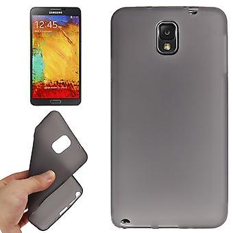 TPU kattaa Samsung Galaxy touch 3 / N9000 tummanharmaa