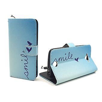 Mobiltelefon tilfælde pose for mobile Acer flydende Z530 Bogstavernes smil Blau