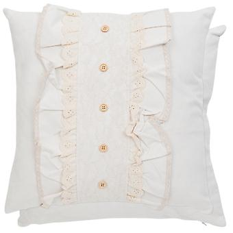 Clayre & EEF romantic pillowcase cottage vintage of lace shabby 45 x 45 cm