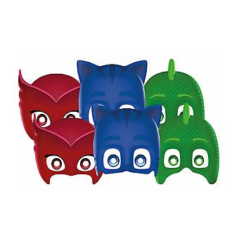 PJ Masks 2D Card Party Face Masks Variety Pack of 6