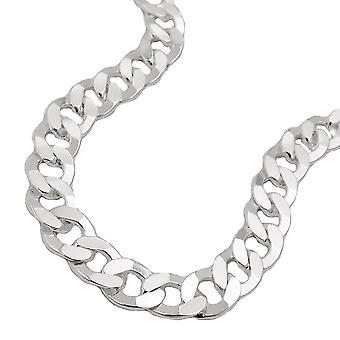 Bracelet 6, 7 x 1, cuve de 4mm plat 925 argent 19cm