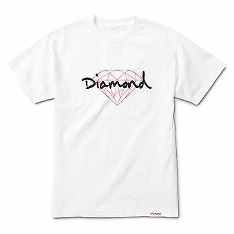 Diamond Supply Co Brilliant Script T-shirt White