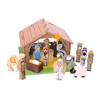 Bigjigs Toys Wooden Nativity Children's Play Set Christmas Xmas Seasonal