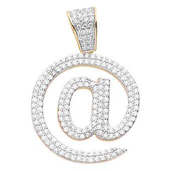 Prémio Bling - ouro de @ pendente da prata esterlina 925