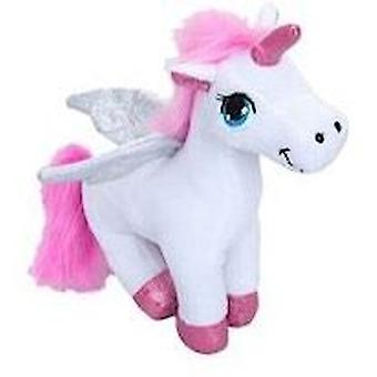 Pluche permanent Unicorn - wit