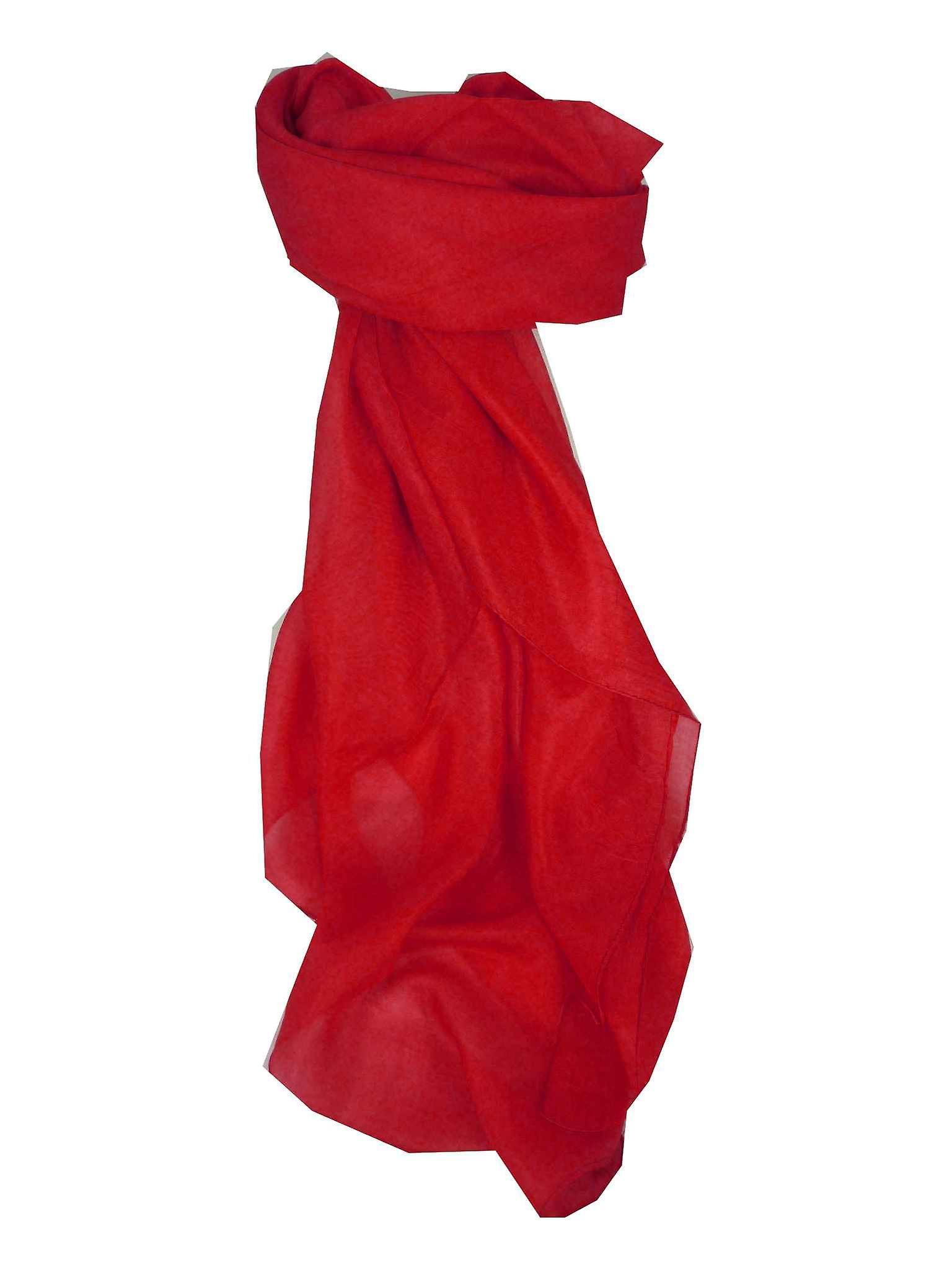 Mulberry Silk Hand Dyed Square Scarf Flame from Pashmina & Silk