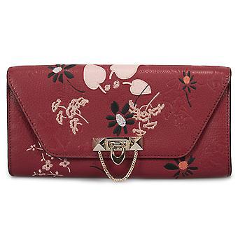 محفظة مخلب ديميلوني فالنتينو باللون الأحمر