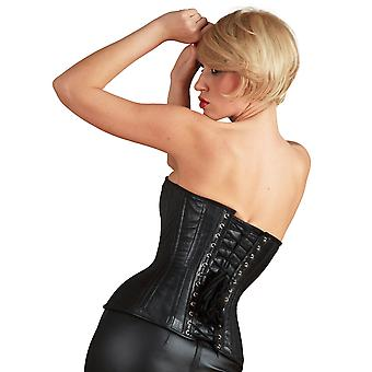 Killer Corsets Women's Corset Leather Black Steel Boned Overbust Victorian Style
