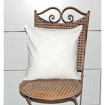 Hossner romantic Cushion cover shabby vintage white crocheted country house 40 x 40 cm