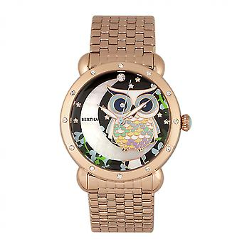 Bertha Ashley MOP Ladies Bracelet Watch - Rose Gold