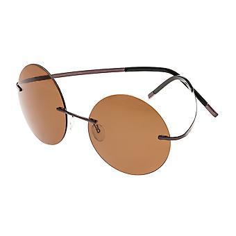 Simplificar cristianas gafas de sol polarizadas - marrón/marrón