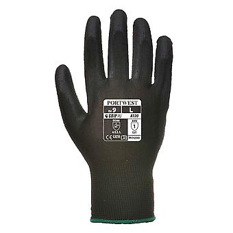 sUw Mens Vending 13 Gauge Lined PU Palm Gloves (1 Pair Pack)